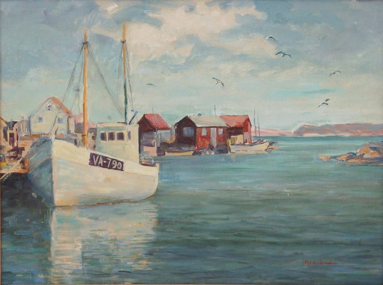 Scene from Ny Hellesund, Norway, Peer Gulbrandsen - Fine Arts