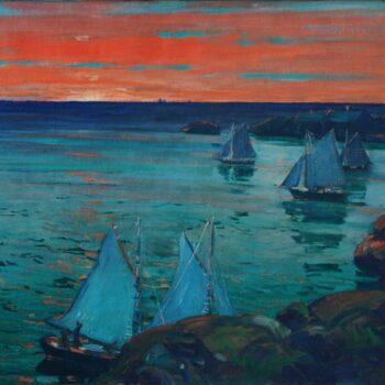 Ships Leaving Port at Dawn, Jonas Lie - Fine Arts