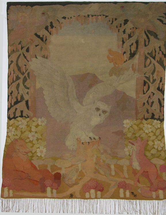 Tapestry based on a cartoon designed by the Norwegian artist Thorolf Holmboe - Textiles
