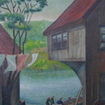 House on the River, Karl Larsen - Fine Arts