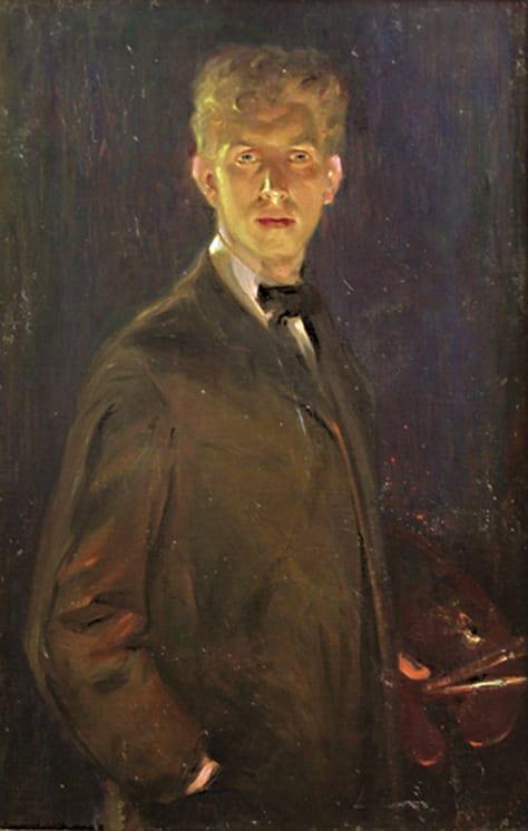 Self Portrait, Christian Abrahamsen - Fine Arts