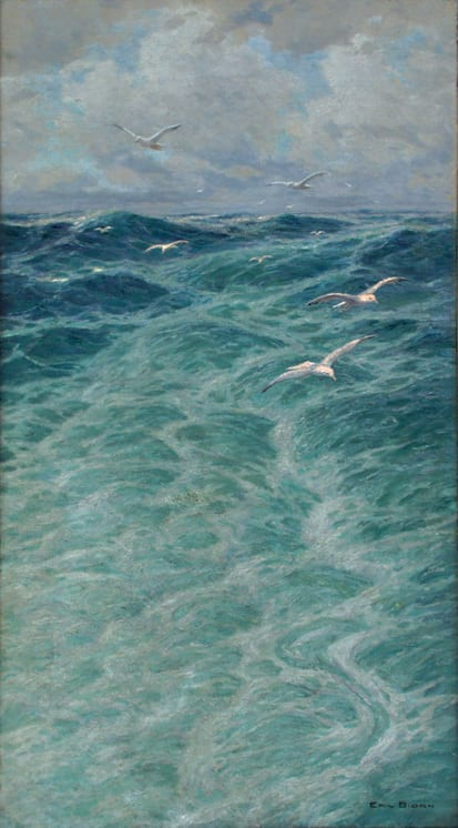 Steamer's Wake, Emil Bjørn - Fine Arts