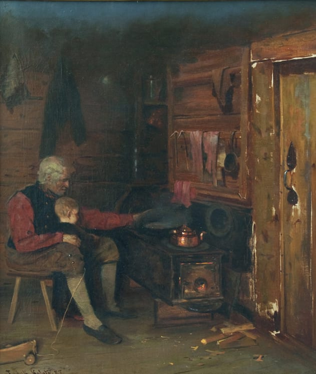 Paa Gubbans Gamle Dage, Ole Fredrik Kolstø - Fine Arts