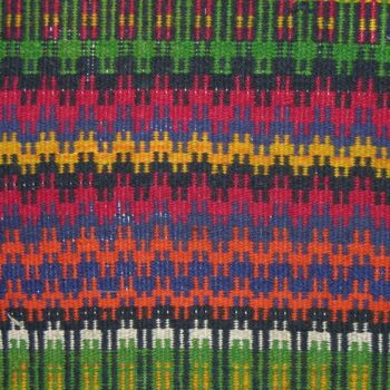 Coverlet woven in one section, with boundweave - Textiles