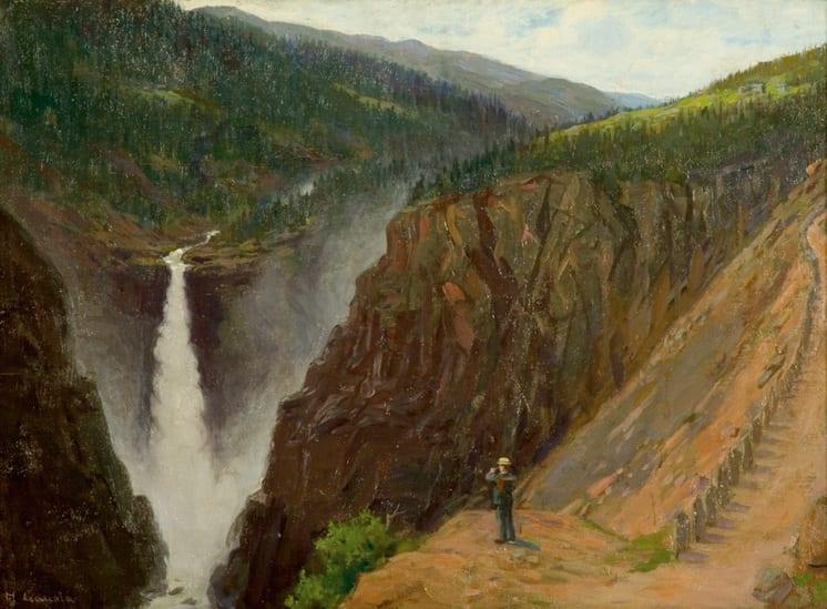 Rjukan Waterfalls, Herbjørn Gausta - Fine Arts