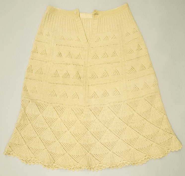 A-line shape petticoat with scalloped hem - Textiles