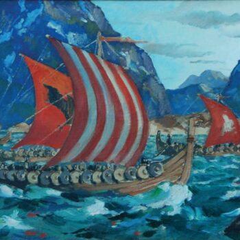 Viking Ship, Jonas Lie - Fine Arts