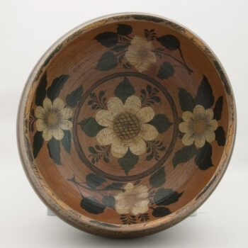 Low bulbous bowl on half-inch base - Rosemaling & Decorative Painting