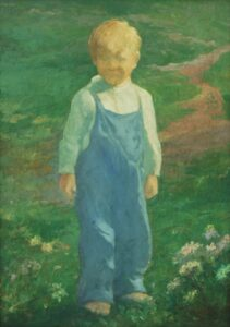 Boy in Meadow, Olaf Aalbu - Fine Arts