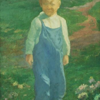 Boy in Meadow, Olaf Aalbu - Fine Arts