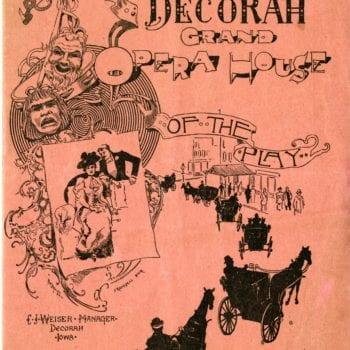 Decorah Grand Opera House show brochure