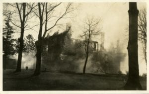 Orphan's Home on fire.