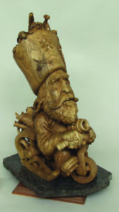 """""""Rest Easy Tonight"""" carved figure © 2005 Fred Cogelow """"Rest Easy Tonight"""" carved figure © 2005 Fred Cogelow"""