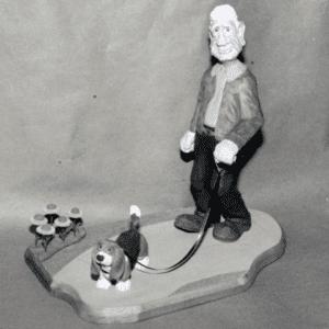 """Dog Walk"" figure © 1994 Gerald Ekern ""Dog Walk"" figure © 1994 Gerald Ekern"