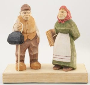 """""""Shopping Day"""" carved figure © 2014 David Fowler """"Shopping Day"""" carved figure © 2014 David Fowler"""