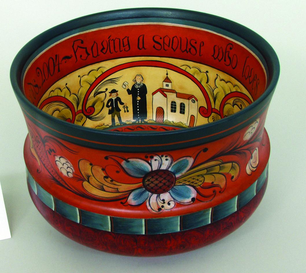 Telemark-style wedding bowl © 2005 Christina Keune Telemark-style wedding bowl © 2005 Christina Keune