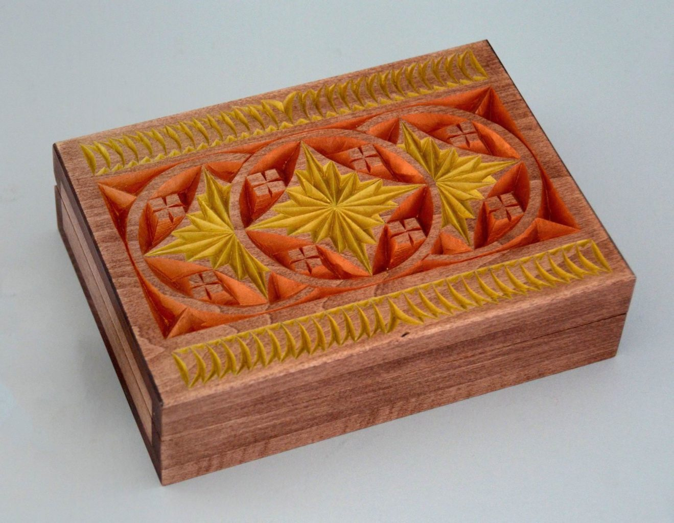 Chip-carved box © 2015 Marty Leenhouts Chip-carved box © 2015 Marty Leenhouts