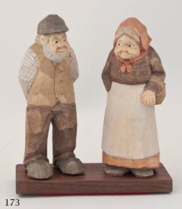 """Immigrant Couple"" carved figure © 2013 James Miller ""Immigrant Couple"" carved figure © 2013 James Miller"