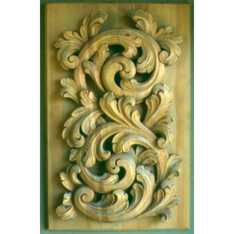 Acanthus-carved panel © 1982 Philip Odden Acanthus-carved panel © 1982 Philip Odden