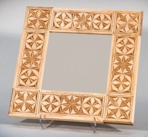 Chip-Carved Mirror © 2017 Shawn Sersland Chip-Carved Mirror © 2017 Shawn Sersland